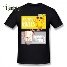 Coffe T shirt Anime Friday Rules Monday Drools Shirt Boy Leisure Unique Design For Round Neck Short Sleeve