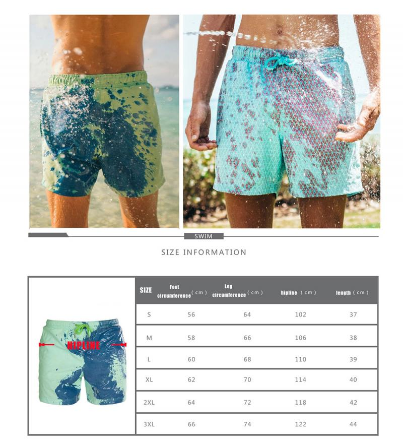 2020 Color Changing Beach Swim Trunks Swimwear Swimsuit That Men Swimming Warm Shorts for Men's Beach Swim Male Briefs New 10