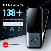 Traductor de voz inteligente portátil, versión actualizada para aprender a viajar, reuniones de negocios, 3 en 1, texto por voz, traductor de idiomas