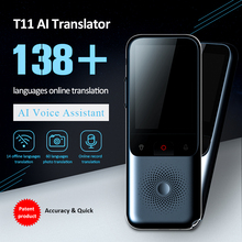 Tradutor de voz inteligente portátil versão de atualização para aprender viagens reunião de negócios 3 em 1 voz texto tradutor de linguagem foto