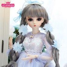 1/3 boneca bjd 60cm realista moda menina bonecas grande original feito à mão com equipamentos completos 18 articulações bola boneca brinquedos para meninas