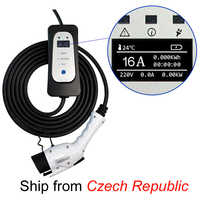 vehicule electrique Chargeur de voiture électrique J1772 Type 1 EVSE EV câble de charge 16A prise EU pour véhicule électrique