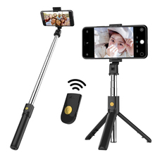Multi-function Cellphone Tripod Selfie Stick Foldable Bluetooth Phone Holder Portable Remote Control