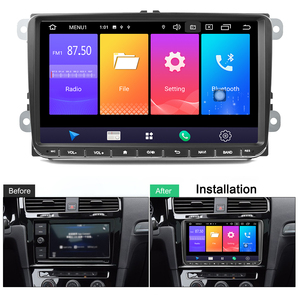 Автомобильный мультимедийный плеер Podofo, 9 дюймов, 2din, Android 9,0, gps, Navi, для VW Volkswagen Golf Polo, passat b6, B7, Touran
