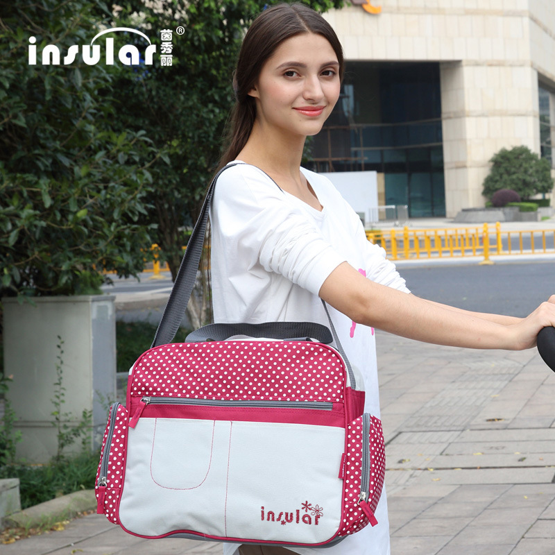Insular Multi-functional Mummy Bag Shoulder Large-Volume Mom And Baby Diaper Bag Mommy Bag Expectant Wholesale