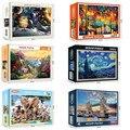Heißer Verkauf puzzles 1000 stück Montage bild raum reise Landschaft puzzles spielzeug für erwachsene kinder kinder home spiele