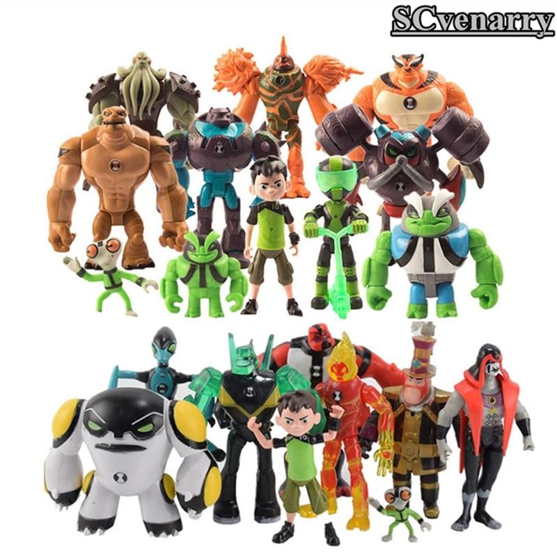 Kids Toys Action-Figures Tennyson Ben 10 Humongousaur PVC Gifts Matter Grey Heatblast