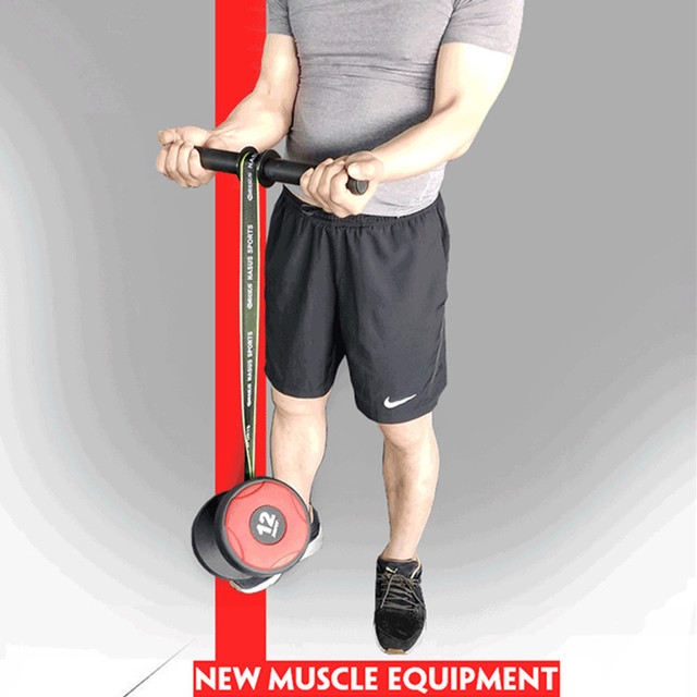 PG Gym Fitness Forearm Trainer Strengthener Hand Gripper Strength Exerciser Weight Lifting Rope Waist Roller Fitness Equipment 4
