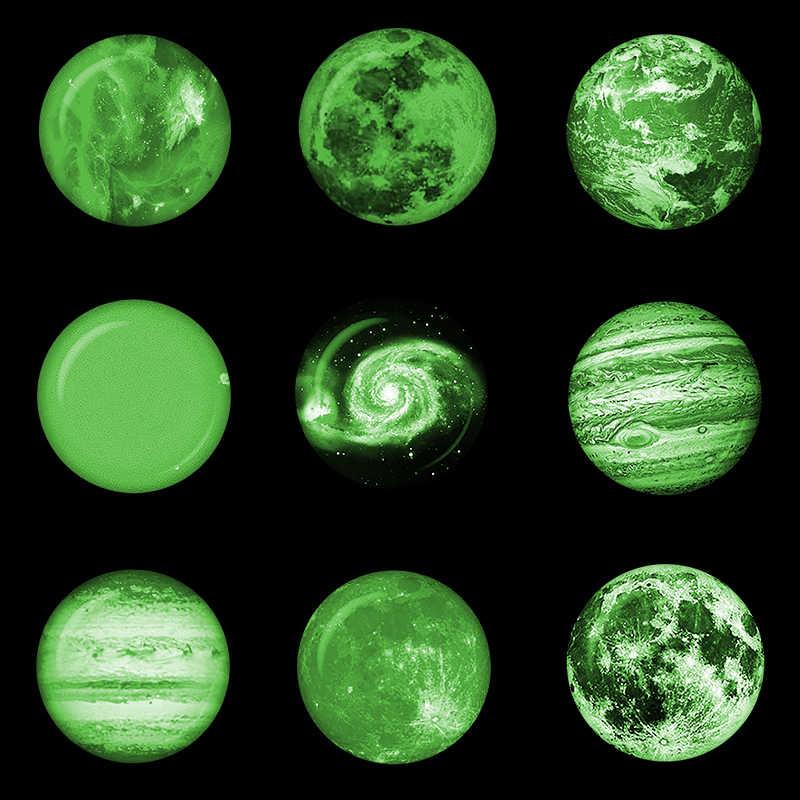 Светящиеся луна звезды планета магнит на холодильник Светящаяся туманность галактика солнечная система магниты на холодильник стекло кабошон наклейки декор
