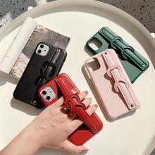 Women Luxury PU Leather Phone Case for Iphone 6 6S 7 8 Plus X XR XS 11 PRO MAX Case Protective Cover with wrist strap kickstand kalaideng england series protective pu leather case for iphone 6 reddish brown
