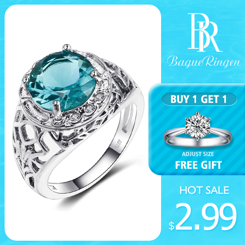 Bague Ringen Vintage 100% 925 Sterling Silver Created Alexandrite Gemstone Rings For Women Party Anniversary Fine Jewelry Ring(China)