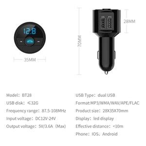 Image 5 - KORSEED 3.6A chargeur USB rapide Kit voiture Bluetooth transmetteur FM modulateur Audio musique lecteur Mp3 téléphone Kit mains libres sans fil
