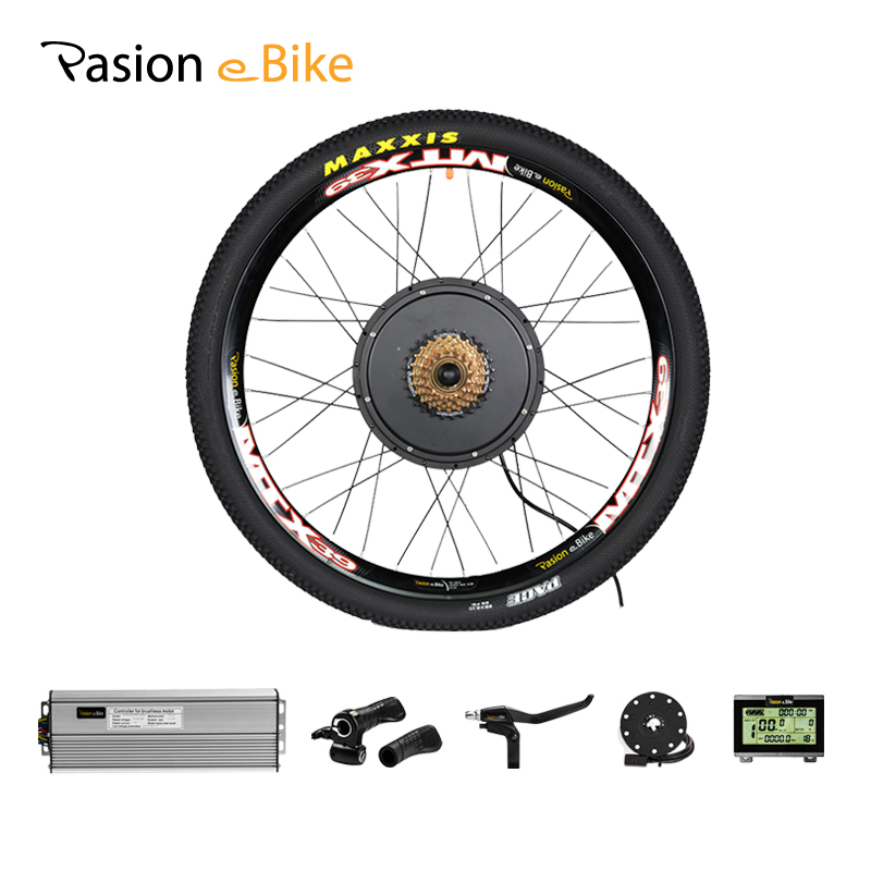 PASION Conjunto de Conversão E De BICICLETA Para Bicicleta Elétrica Roda Do Motor 1500W Bicicleta Elétrica Kit de Motor Roda ou 52V bateria elétrica da Bicicleta