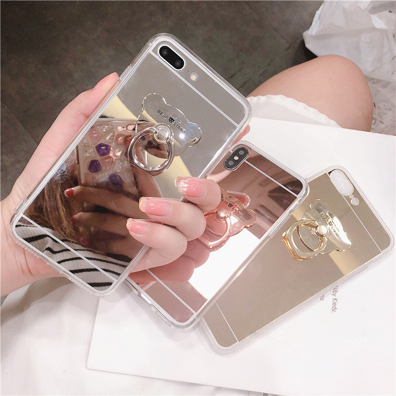 For <font><b>Samsung</b></font> A3 A5 <font><b>A6</b></font> A7 A8 A9 J3 J4 J5 J6 J8 Plus 2018 <font><b>2017</b></font> Mirror Holder <font><b>Case</b></font> For iPhone 11 Pro 6 6S 7 8 Plus X XS MAX Cover image