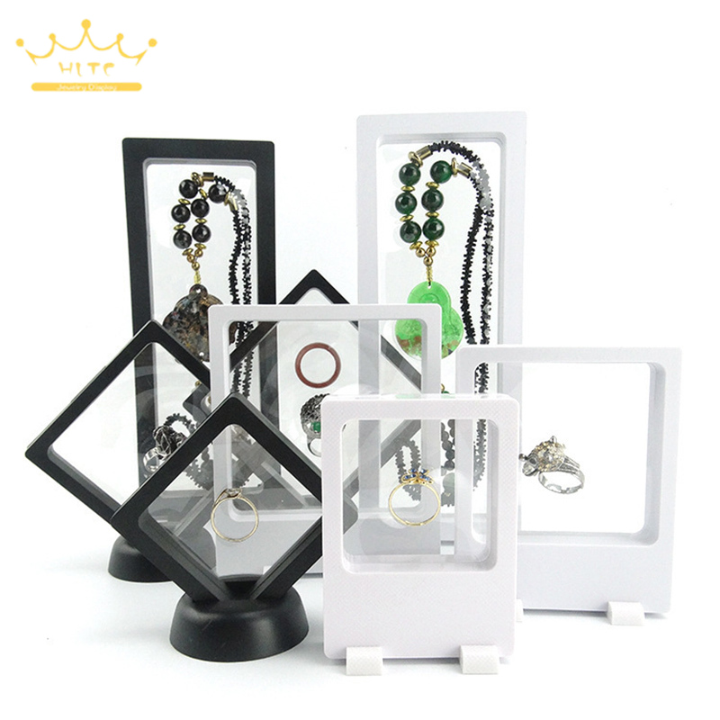 Jewelry Display Holder Acrylic Transparent Suspended Display Stand Ring Necklace Watch Diamond Case Gemstone Display