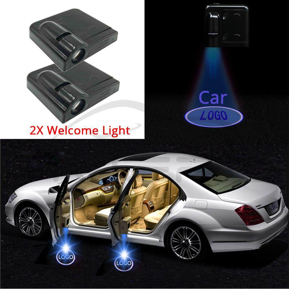 2X Auto Led Car Led Wireless Door Led Welcome Light Projection Lamp For Renault Laser Buld For Lada For BMW For Volvo For Toyota