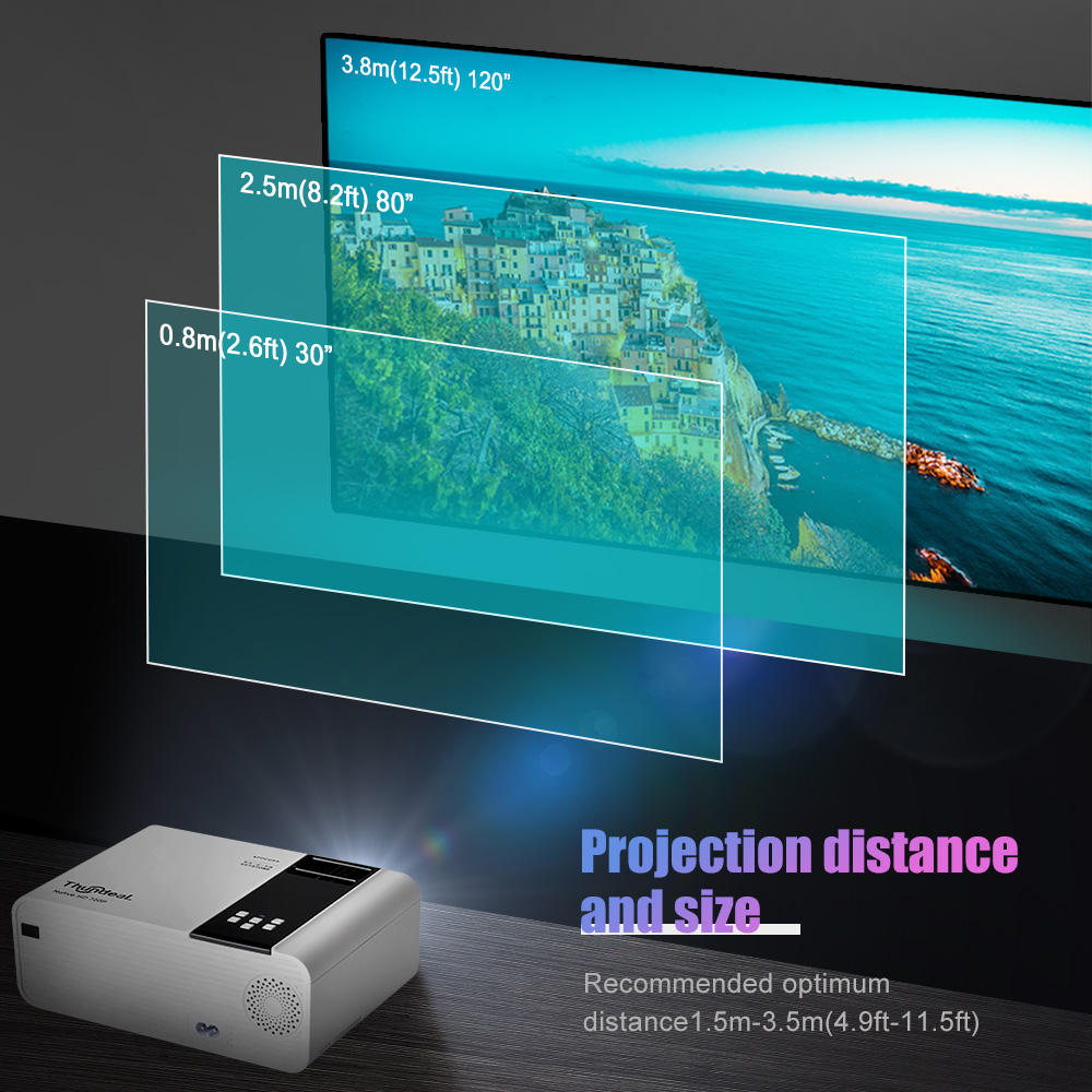 ThundeaL TD90 Native 720P Projector Android WiFi Bluetooth Projector 3D Video Movie Party Mini Proyector Portable Home Theater 4