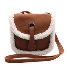 цена на Luxury Women Bags leather Plush Wool Bag Tide Chain Single Shoulder Small Square Handbags sac a main femme de marque luxe 2019
