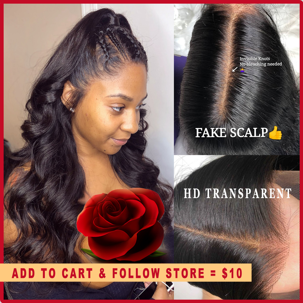 Body Wave Breathable Fake Scalp Wig 13x6 Deep Lace Front Human Hair Wigs Invisible Remy PrePlucked Swiss Transparent HD Lace Wig