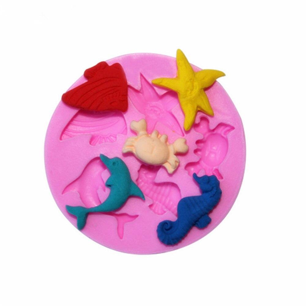 3D Ozean Welt Delphin Schokolade Kuchen Formen Kekse Form Fondant Silikon Form DIY Backen Dekoration Werkzeuge Küche Zubehör