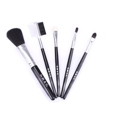 Makeup Brush Set Portable with Blush Foundation Brush Lip Brush Eyebrow Brush Beauty Tools lip brush lipstick brush portable black lip makeup brush universal makeup brushes for woman s gift