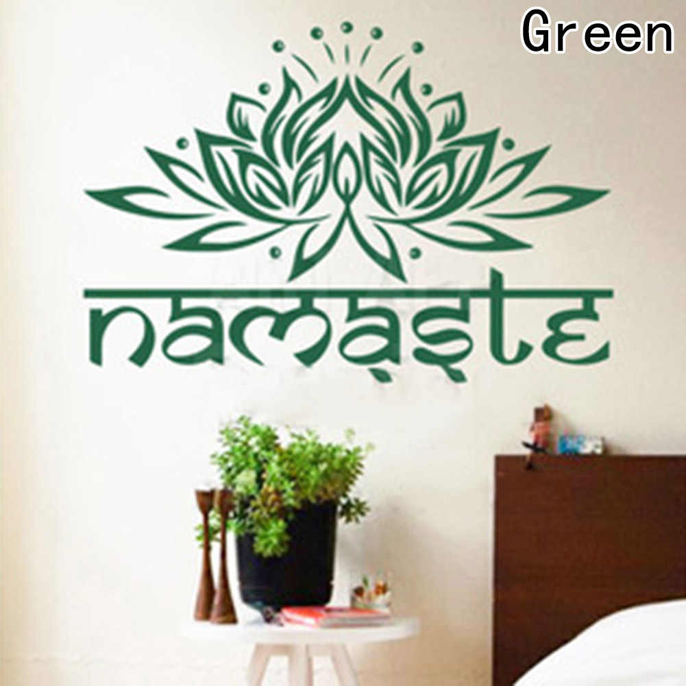 1 Pc Flower Wall Decal Yoga Namaste Wall Stickers Home Decor Living Room  Bedroom Yoga Studio Wall Art Vinyl Wallpaper
