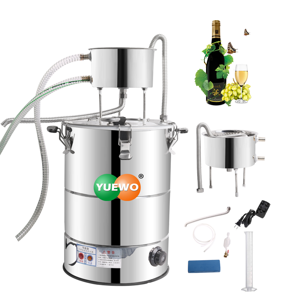 YUEWO 38L/58L Electric alcohol distiller Wine making kit Water Distiller Moonshine still Home Brewing equipment