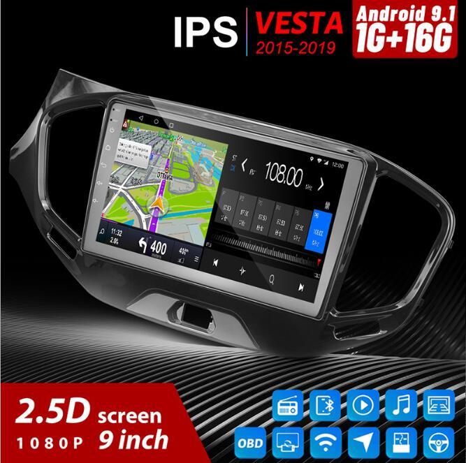 BYNCG For Lada VESTA 2015-2019 Car Radio Multimedia Video Player Navigation GPS Android 8.1 Accessories Sedan No Dvd 2 Din