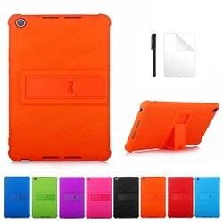 Детский безопасный Чехол для Huawei MediaPad M5 lite 8 JDN2-W09/AL00 8,0 дюймов, умный чехол для huawei m5 lite 8, Мягкий Силиконовый Чехол + пленка + ручка