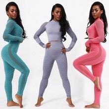 Seamless Women Gym Suit Yoga Leggings ropa deportiva mujer Women Sports Yoga Pants gym clothing Yoga Clothing Women Yoga Set