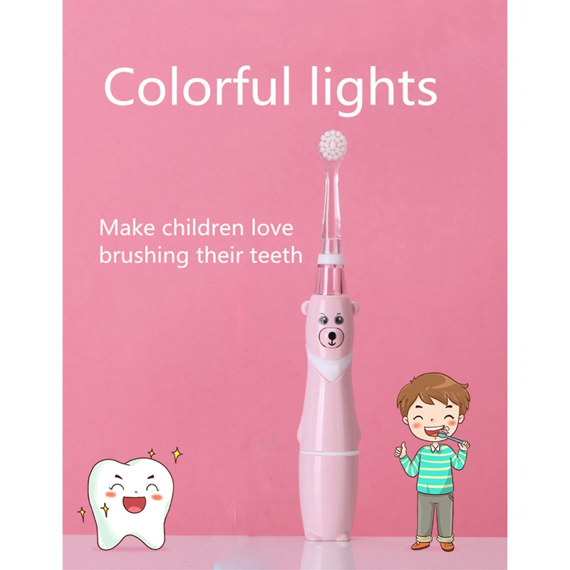 Top Deals Professional Baby Sonic Toothbrush Children Cartoon Electric Toothbrush Waterproof Soft Oral Hygiene Tooth Care image