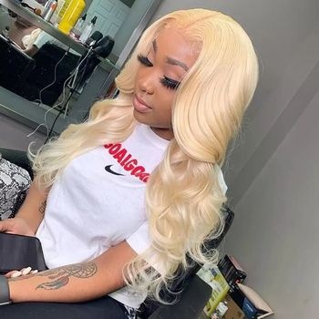 JayMay Body Wave Wig Pre Plucked Blonde Wig 13x6 Lace Front Wigs Human Hair 613 T Lace Frontal Wig Transparent Lace Wig image