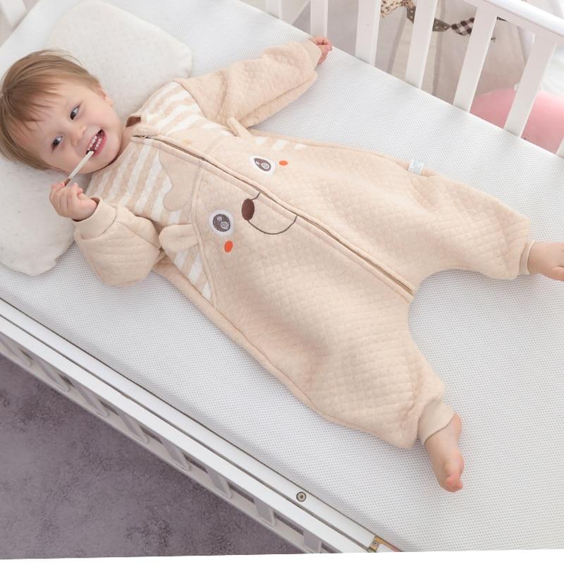 Spring Autumn Baby Sleeping Bag Kids Romper Muslin Bamboo Cotton Toddler Sleep Sack Cute Cartoon Sleep Bag Children Kick Quilt