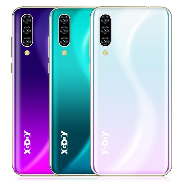 "XGODY 3G Mobile Phone Note 7 2GB 16GB Smartphone 6.26"" Waterdrop HD Screen MTK6580 Quad Core Android 9.0 Face ID Unlock 2800mAh"