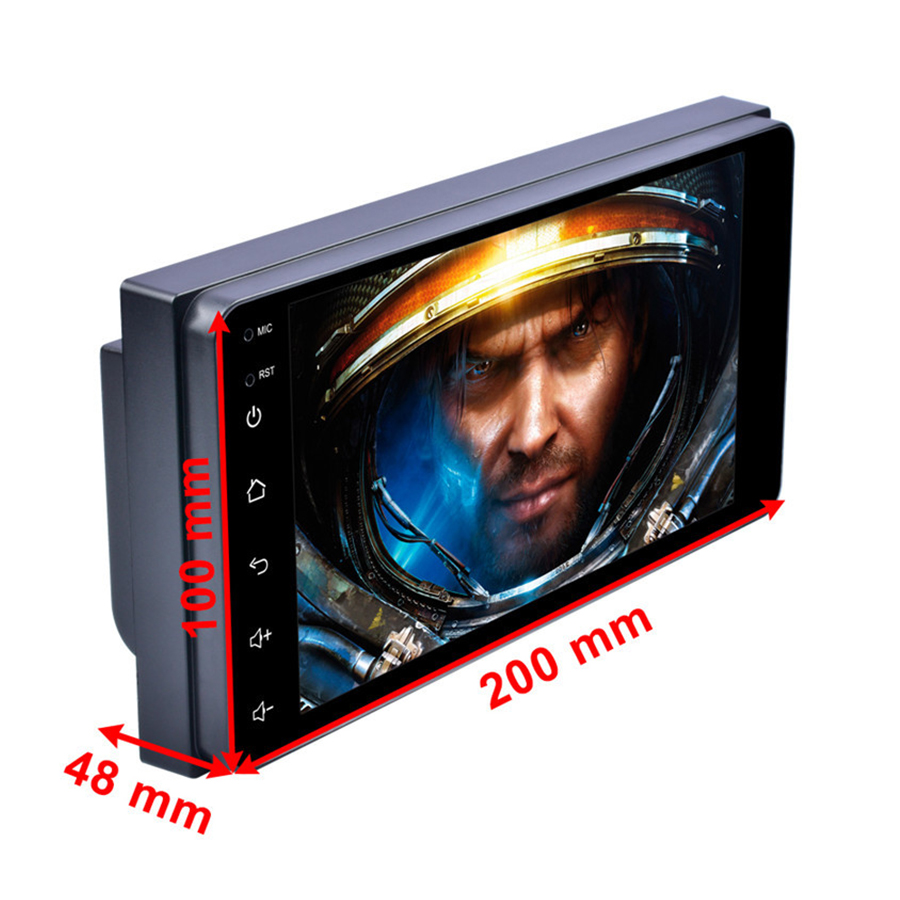 7 Android 8.1 Auto MP5 Speler Touch Screen QUAD core Wifi Verbinding GPS Navigatie DAB FM/AM radio Tuner voor TOYOTA - 2