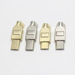 50 комплектов Micro Mini Type C USB 2,0 USB 3,1 штекер разъема гнездо никеля/золота для DIY кабель для передачи данных HiFi аудио адаптер