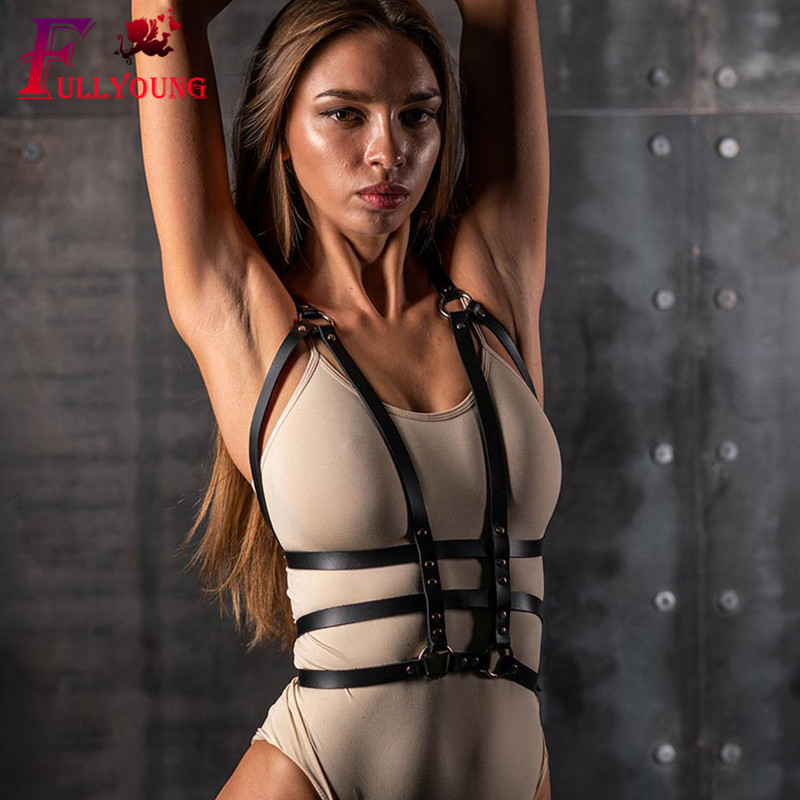 Sexy Leather Leg Garter Body Strap Harness Belt Bridal Garters Belts For Women's Lingerie Body Sexy Costumes Suspender 5Z