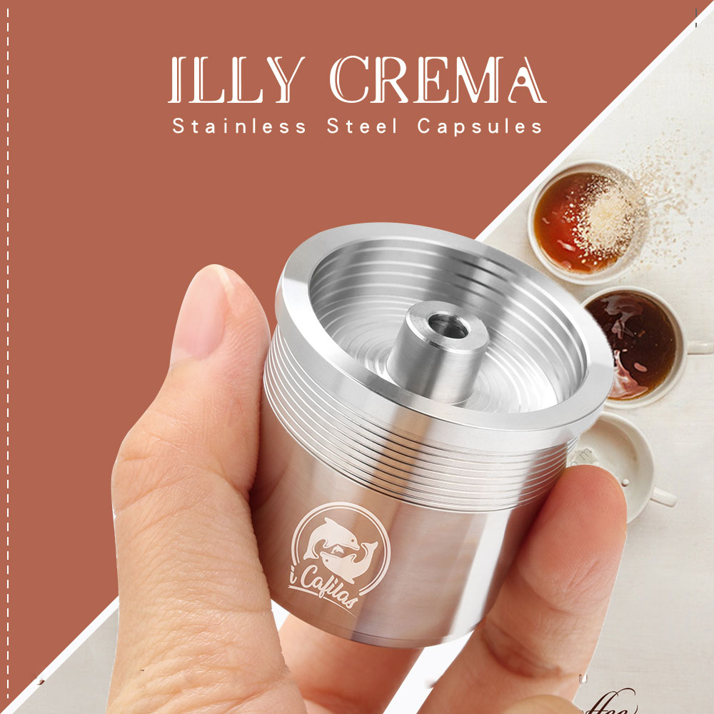 ICalifas Compatible For Illy Coffee Machine Maker/STAINLESS STEEL Metal Refillable Reusable Coffee Capsule Pods Baskests