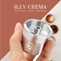 Icalifas compatível para illy máquina de café/metal de aço inoxidável recarregáveis cápsulas de café reusáveis baskets|Filtros de café| |  -