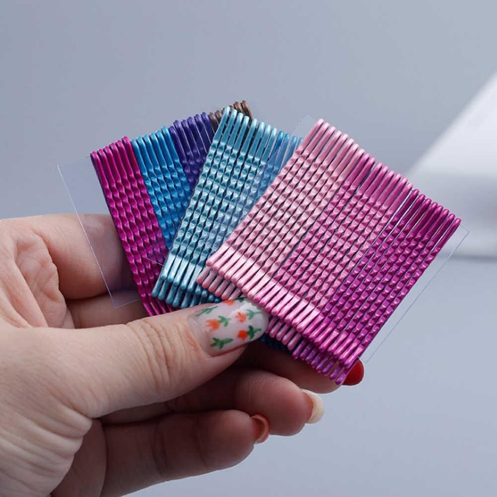 24Pcs 5cm Multicolor Hair Clips Bobby Pins Wavy Fashion Hairpins Metal Barrettes