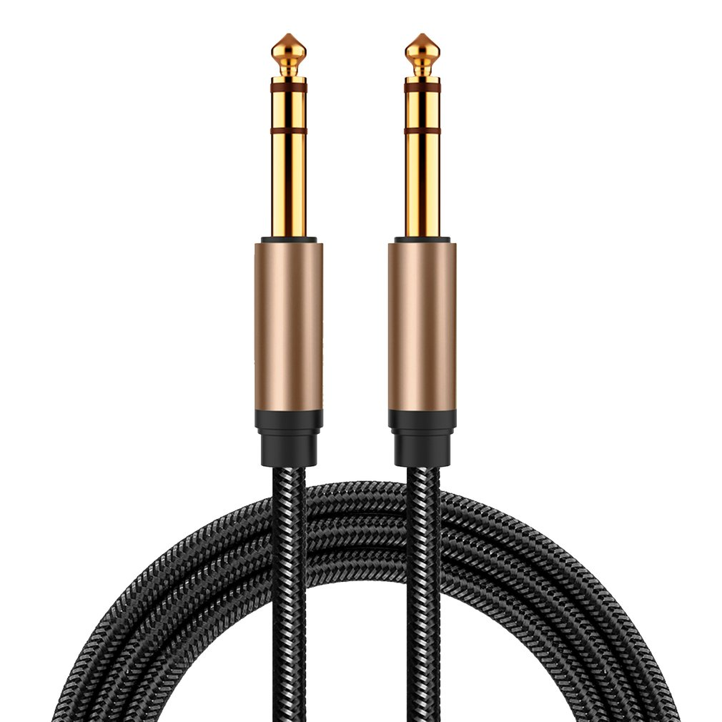 6.5mm Jack Audio Cable Nylon Braided 6.35 Jack Male To Male Aux Cable For Guitar Mixer Amplifier Bass 6.35 Mm Jack Cord
