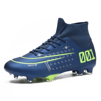 Outdoor Football Boots Men Sneakers AG Cleats Soccer Shoes Professional High Top Athletic Shoes Man Trainers Chuteira Futelbol|Soccer Shoes| |  -