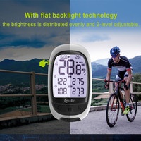 Meilan GPS Bicycle Computer Waterproof Wireless Cycling Speedometer ANT+ Bluetooth BLE4.0 heart speed/cadence meter Odometer
