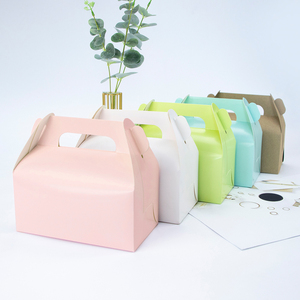 10pcs /kraft gift box cake West Point white dessert brown pink green packaging paper cup wedding party portable paper box carton