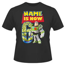 Toy Story Buzz Personalised Boys Girls T-Shirt Age 6 Ideal Gift/Present Cartoon t shirt men Unisex New Fashion tshirt(China)