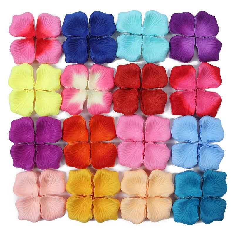 100 ชิ้น/แพ็ค DIY วันวาเลนไทน์โรแมนติกผ้าไหมประดิษฐ์ Rose กิจกรรมที่มีสีสันงานแต่งงานตกแต่งเทศกาลปาร์ตี้เครื่องมือตกแต่งดอกไม้
