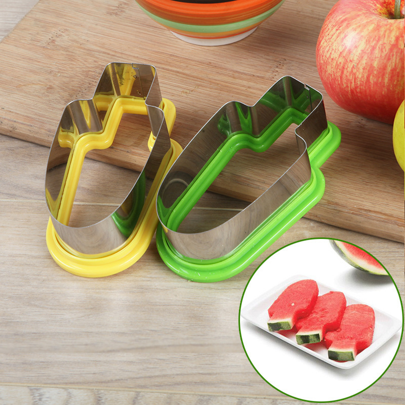 Stainless Steel Cut Watermelon Useful Product Creative Watermelon Cutter Popsicle Ice Cream Modeling Mould Fruit Platter Splitte