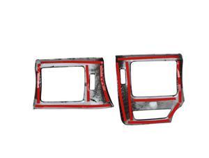 Image 2 - Center Konsole Klimaanlage Vent Dekoration Links Ringht für Toyota 4 Runner 2010 2020 Auto Innen Zubehör Rot Aufkleber