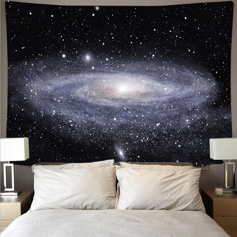 Milky Way Starry Tapestry Large Celestial Wall Covering Psychedelic Wall Hanging Polyester Printed Art Star Beach Towel Blanket