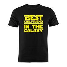Unixsex Футболка хлопок лучшая девушка в Галактике Звездные войны Nerdy забавная работа подарок Тройник